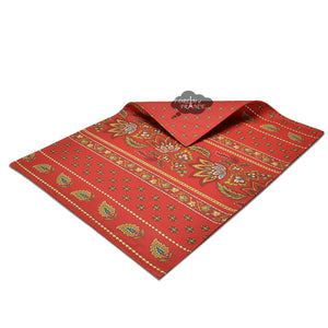 Lisa Red Coated Cotton Reversible Placemat by Le Cluny