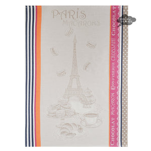 Macarons French Jacquard Dish Towel by Tissus Toselli