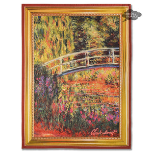 Monet Bridge Over a Pond of Water Lilies French Kitchen Towel by Marat d'Avignon