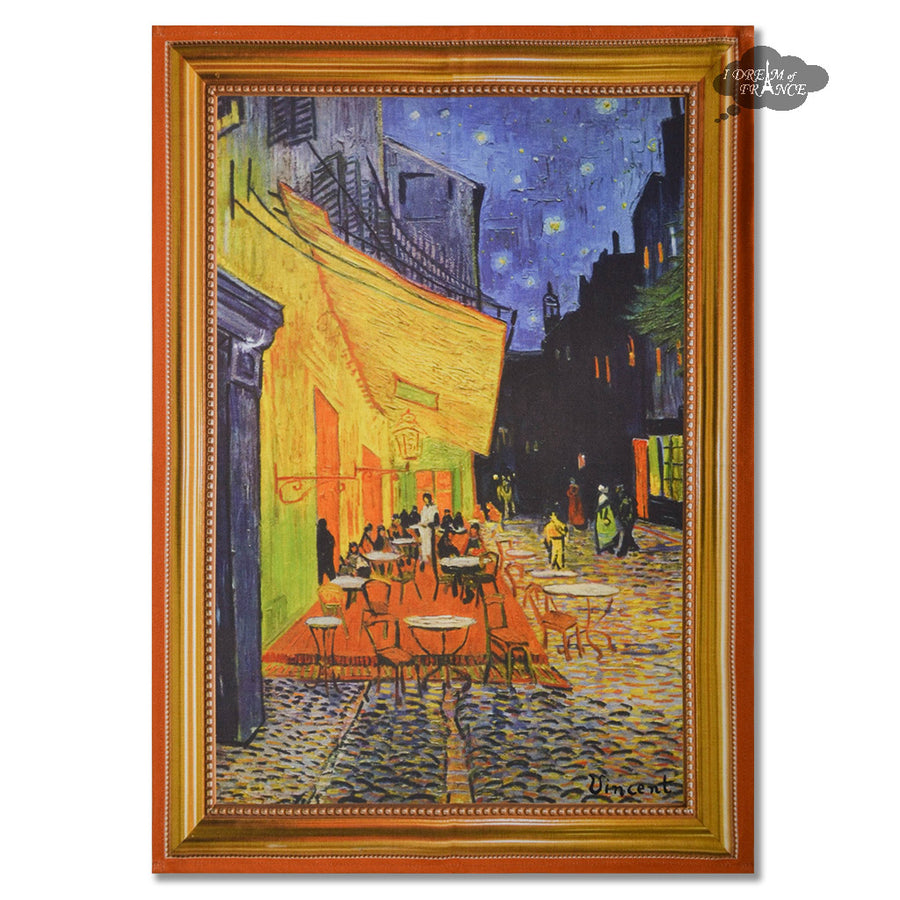 Van Gogh Cafe Terrace at Night French Kitchen Towel by Marat d'Avignon