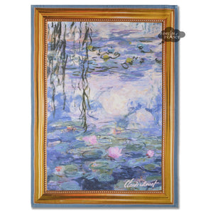 Monet Nympheas Water Lilies French Kitchen Towel by Marat d'Avignon