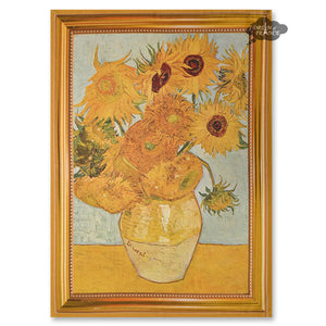 Van Gogh Sunflowers French Kitchen Towel by Marat d'Avignon