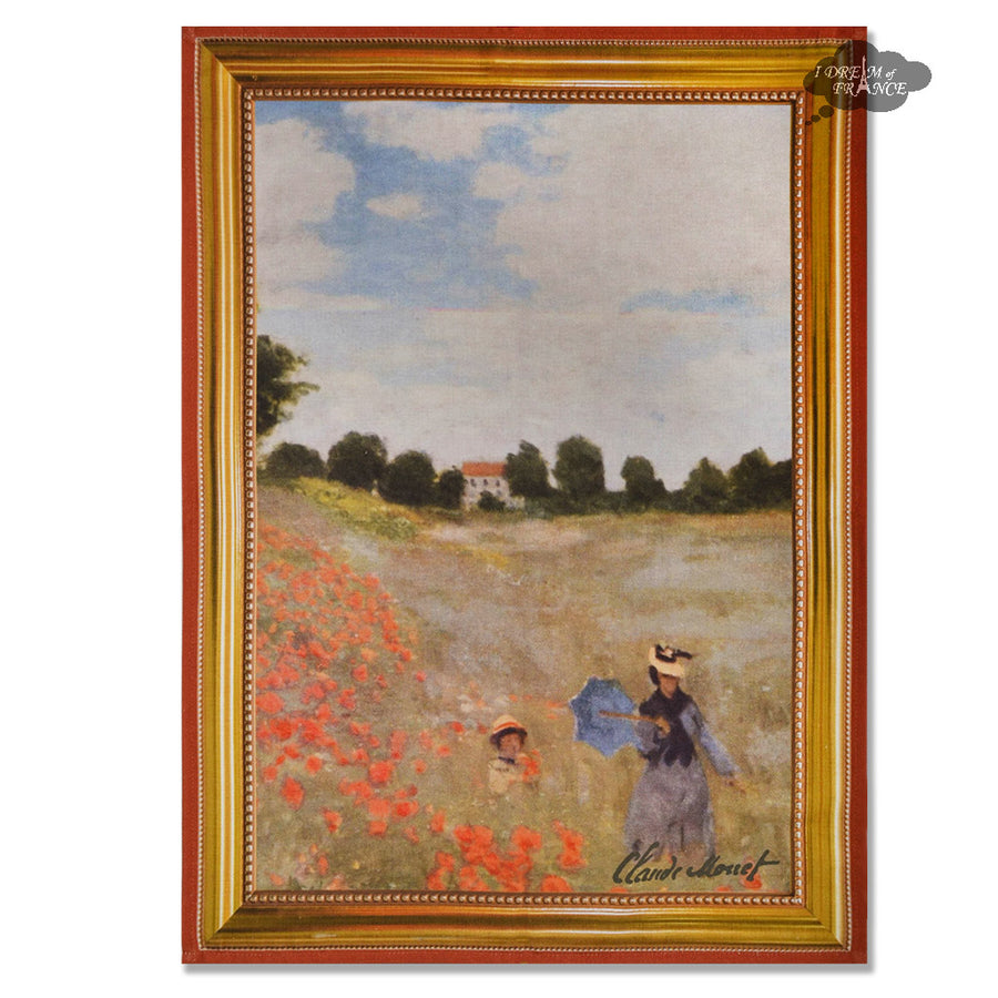 Monet Wild Poppies French Kitchen Towel by Marat d'Avignon