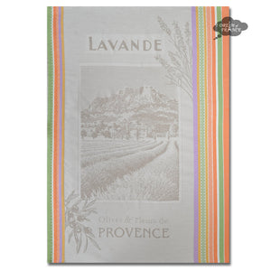 Mont Sainte Victoire French Jacquard Dish Towel by Tissus Toselli