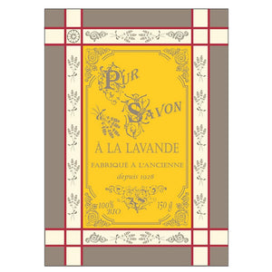 Lavandiere Yellow French Jacquard Kitchen Towel by Montolivet