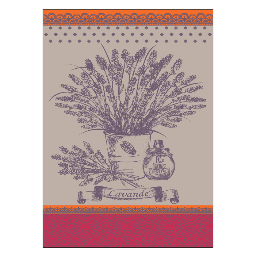 Lavender Bunch French Jacquard Kitchen Towel by Montolivet