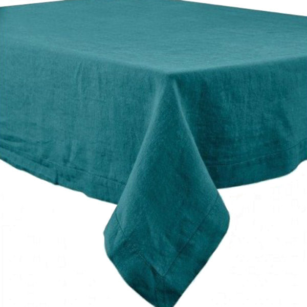"66x120"" Rectangular Nais Crepuscule Stone Washed Linen Tablecloth by Harmony"