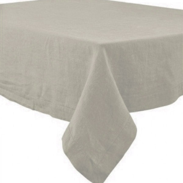 "66"" Square Nais Natural Stone Washed Linen Tablecloth by Harmony"