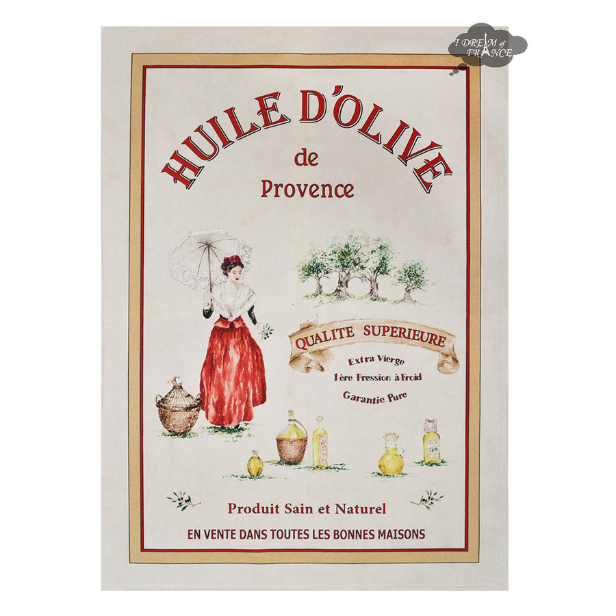 Huile d'Olive French Kitchen Towel by L'Ensoleillade