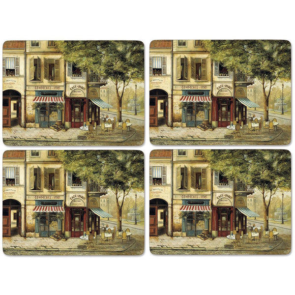 Pimpernel Set of 4 Rigid Placemats - Parisian Scene