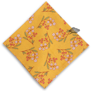 Petite Fleur Yellow Provence Cotton Napkin by Le Cluny