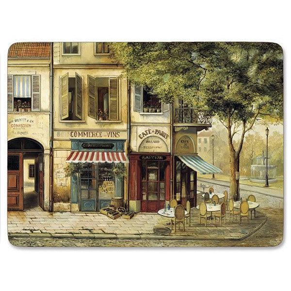 pimpernel set of 4 rigid placemats parisian scene i. Black Bedroom Furniture Sets. Home Design Ideas