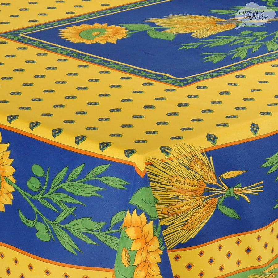 "Tournesol Yellow French Provencal Tablecloth - 59x94"" Rectangular"