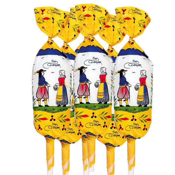 Barnier Quimper Salted Butter Caramel Lollipops - Bag of 6 or 12