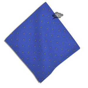 Calisson Sapphire blue Provence Cotton Napkin by Tissus Toselli