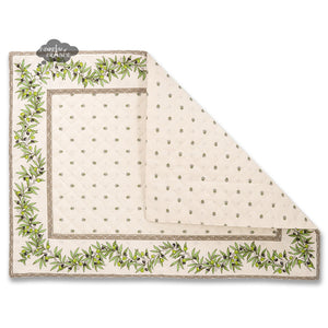Ramatuelle Cream Quilted Cotton Placemat by Tissus Toselli