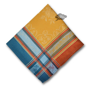 Ramatuelle Curry French Cotton Jacquard Napkin by L'Ensoleillade