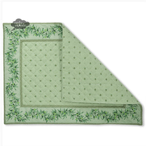 Ramatuelle Green Quilted Cotton Placemat by Tissus Toselli
