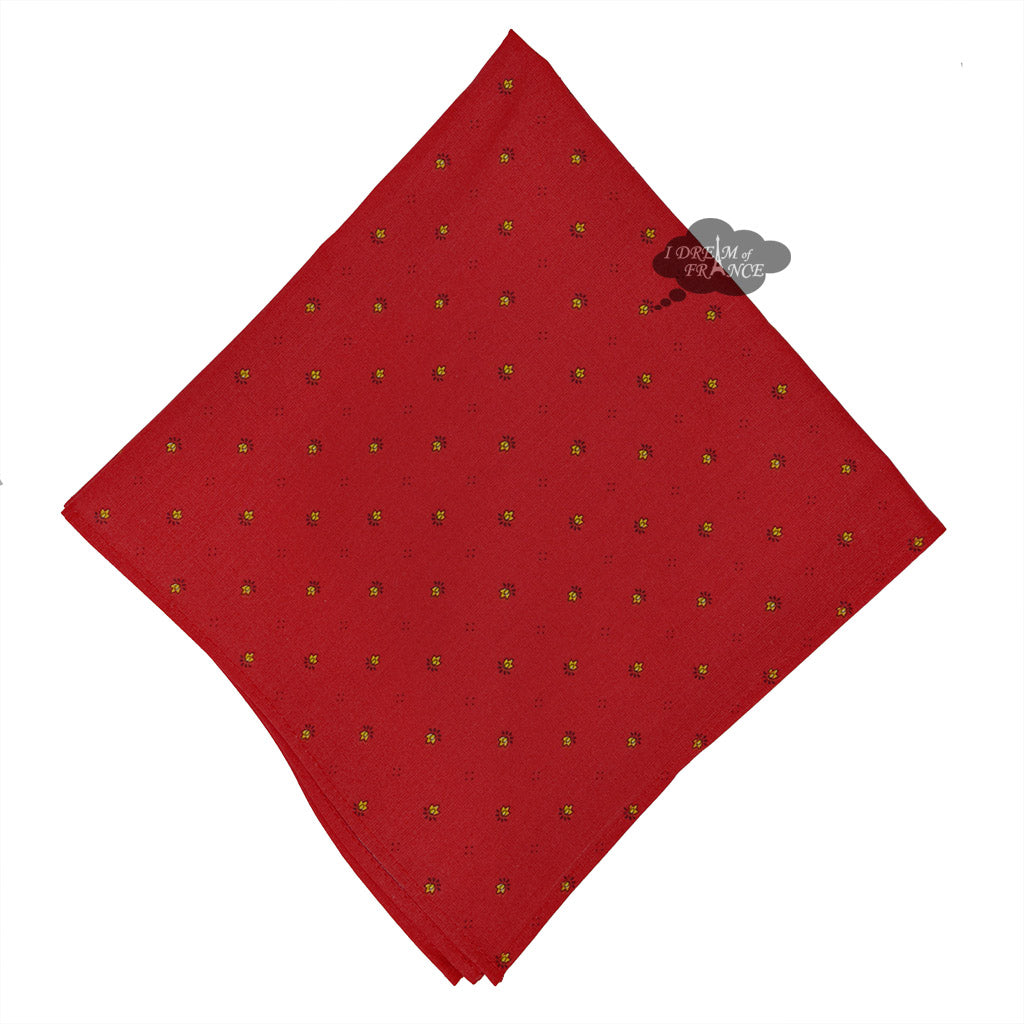 Calisson Red Provence Cotton Napkin By Tissus Toselli French Tablecloths And Tea Towels