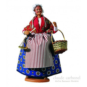 "French Provencal Santon Figure 11"" - La Poissonniere"