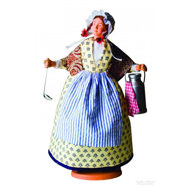 "French Provencal Santon Figure 11"" - La Laitiere (Milk Lady)"