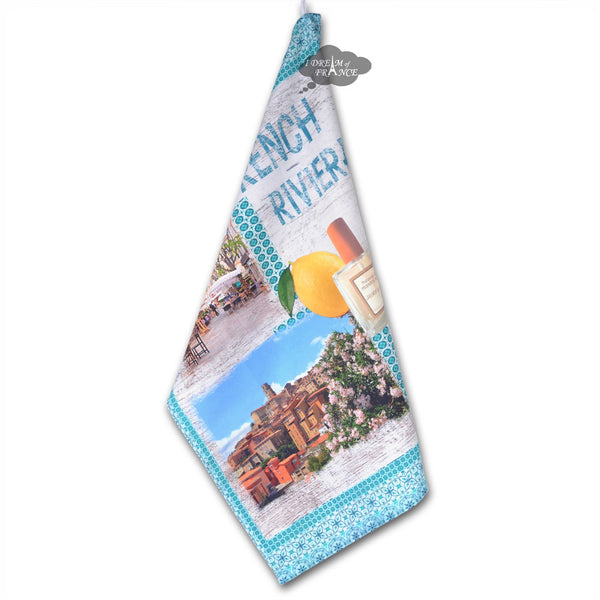 French Riviera Jasmine French Kitchen Towel by STOF