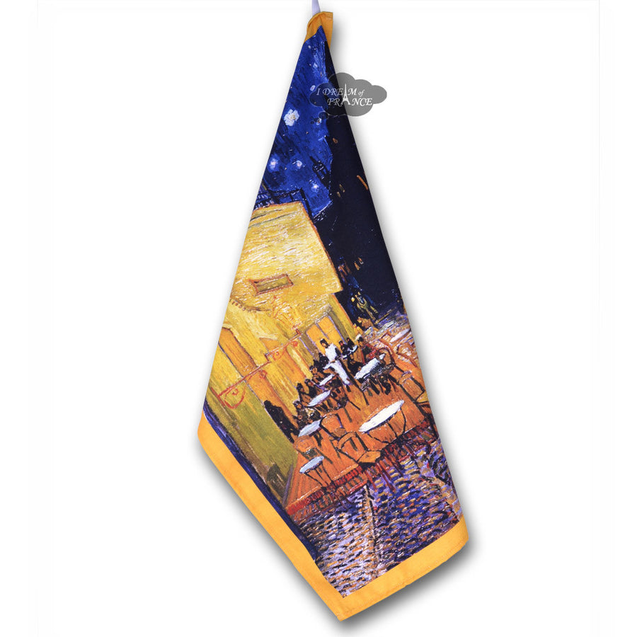 Van Gogh Cafe Terrace at Night French Kitchen Towel