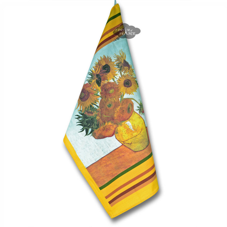 Van Gogh Sunflowers French Kitchen Towel by STOF
