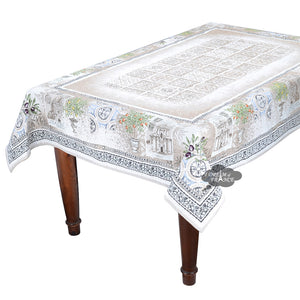 "56"" Square Tuscan Olive French Tapestry Tablecloth by L'Ensoleillade"