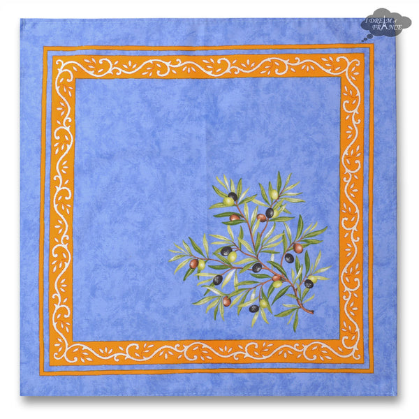 Clos des oliviers Blue Provence Cotton Napkin by Tissus Toselli