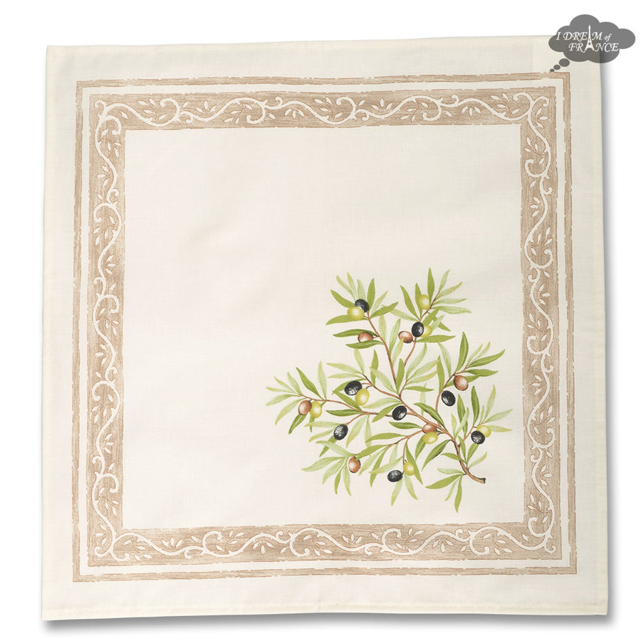 Clos des Oliviers Cream Provence Cotton Napkin by l'Ensoleillade