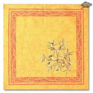 Clos des Oliviers Yellow Provence Cotton Napkin
