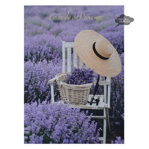 Provence Lavender French Cotton Kitchen Towel by Tissus Toselli