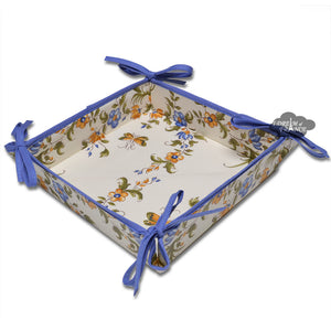 Moustiers Blue & Cream Cotton Bread Basket