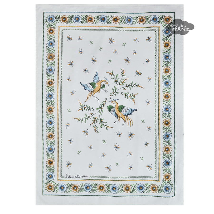 Moustiers French Cotton Kitchen Towel by Tissus Toselli