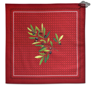 Nyons Red Provence Cotton Napkin by Tissus Toselli