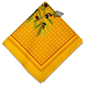 Nyons Yellow & Red Provence Cotton Napkin by Tissus Toselli