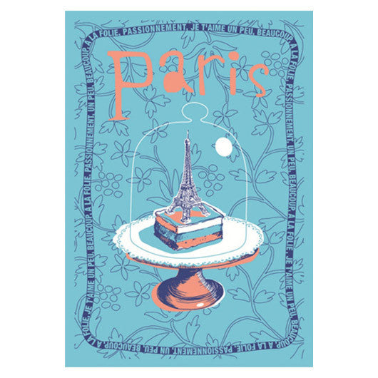 Eiffel Tower in Cake Dome French Towel by Torchons et Bouchons