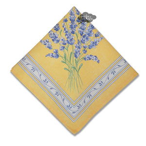 Valensole Yellow Provence Cotton Napkin by l'Ensoleillade