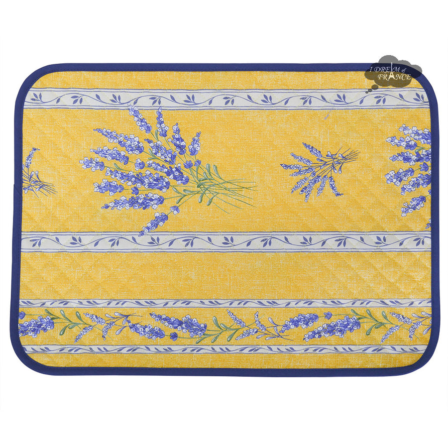 Valensole Yellow Cotton Quilted Placemats by L'Ensoleillade
