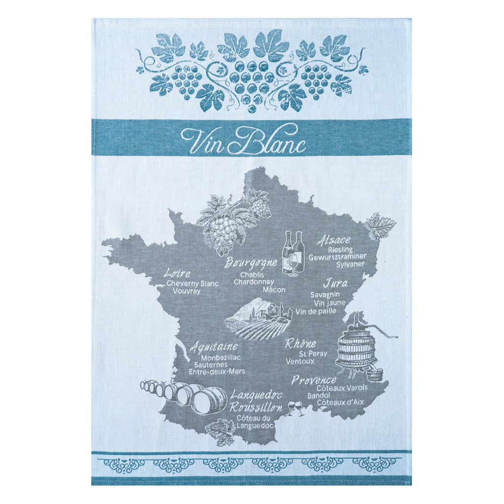 Coucke Vin Blanc (White Wine) French Dish Towel