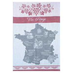 Red Wine (Vin Rouge) French Jacquard Dish Towel by Coucke