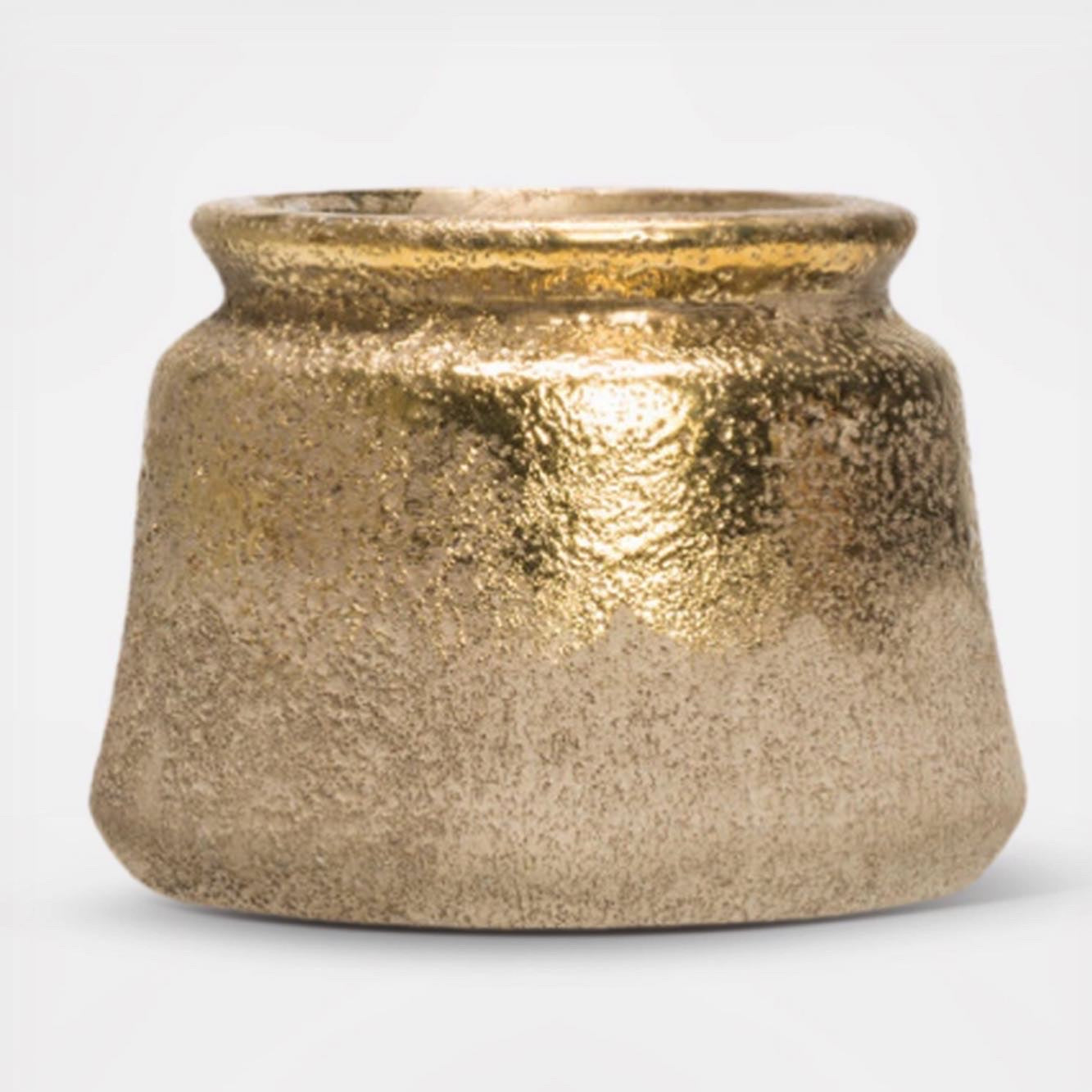 Terra Cotta Gold Ombré Pot