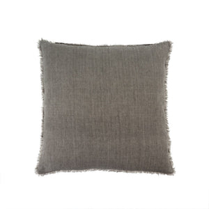 Lina Linen Pillow in Warm Grey