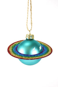Rainbow Saturn Ornament