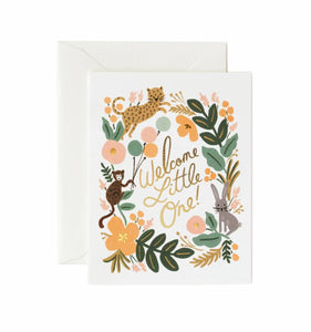 Welcome Menagerie Baby Card