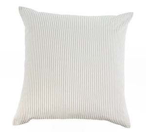 French Ticking Pillow in Grey