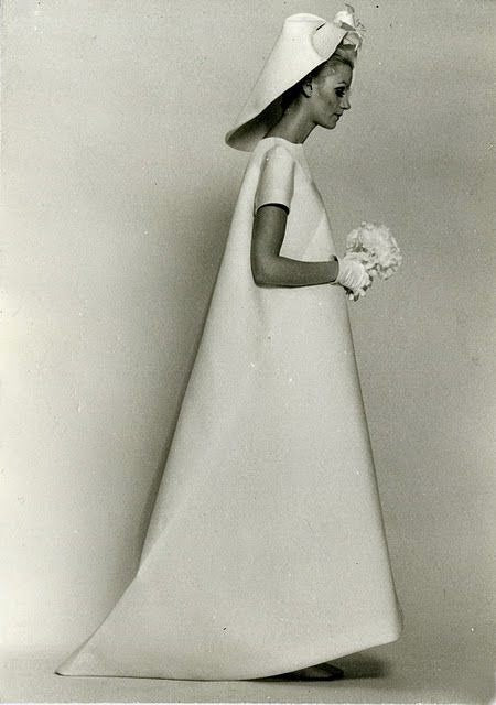 Balenciaga wedding dress 1968 minimalist style example