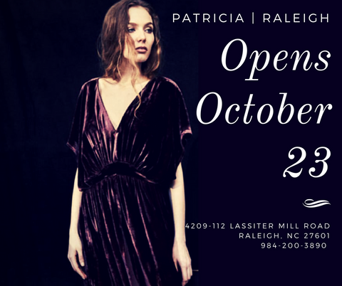 Patricia Raleigh store opens October 23