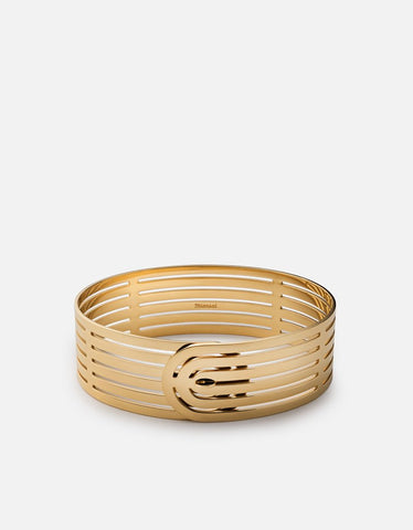 Miansai Polished Gold Plated Infinity Cuff